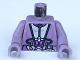 Part No: 973px157c01  Name: Torso SW Silver and Purple Utility Gear Pattern (Zam) / Sand Purple Arms / Sand Purple Hands