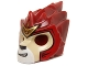 Lot ID: 117152324  Part No: 11129pb07  Name: Minifigure, Headgear Mask Lion with Tan Face and Gold Crown Small Pattern