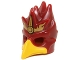 Part No: 16656pb01  Name: Minifigure, Headgear Mask Bird (Phoenix) with Yellow Beak and Gold Headpiece with Flames Pattern