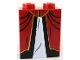 Part No: 3678bpb027  Name: Slope 65 2 x 2 x 2 with Bottom Tube with White Inset with Black and Gold Trim Dress Pattern