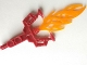 Part No: 50934pb01  Name: Bionicle Weapon Hordika Blazer Claw with Bright Light Orange Flexible Flame End