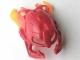Part No: 64259pb01  Name: Bionicle Mask Malum with Marbled Trans-Orange Pattern