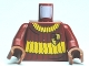 Part No: 973pb0747c01  Name: Torso Harry Potter Quidditch Gryffindor Ribbed Pattern / Dark Red Arms / Reddish Brown Hands