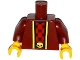 Part No: 973pb1873c01  Name: Torso Robe with Gold Trim over Red Shirt with Black Skulls and Belt with Gold Skull Buckle Pattern / Dark Red Arms / Yellow Hands