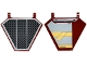 Part No: x1435pb022R  Name: Flag 5 x 6 Hexagonal with SW Black Radiator Plate Pattern on One Side and Jedi Interceptor on Other Side Right (Stickers) - Set 75135