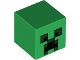 Part No: 19729pb003  Name: Minifig, Head Modified Cube with Minecraft Creeper Face Pattern