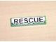 Part No: 2431pb055  Name: Tile 1 x 4 with Black 'RESCUE' on White Background Pattern (Sticker) - Set 8255