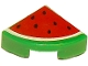 Part No: 25269pb002  Name: Tile, Round 1 x 1 Quarter with Red Watermelon Pattern