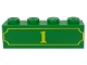 Part No: 3010pb119  Name: Brick 1 x 4 with Yellow '1' and Fancy Outline Pattern