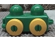 Part No: 31605c01  Name: Primo Vehicle Wagon with Yellow Wheels and Tow Hitches