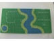 Part No: 3857pb02  Name: Baseplate 16 x 32 with River and Set 6071 Dots Pattern