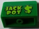 Part No: 4865pb075  Name: Panel 1 x 2 x 1 with Lime 'JACK POT $' Pattern (Sticker) - Set 71016