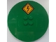 Part No: 6177pb013  Name: Tile, Round 8 x 8 with Electricity Danger Sign Pattern (Sticker) - Set 60052