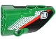 Part No: 87086pb009  Name: Technic, Panel Fairing # 2 Small Smooth Short, Side B with Door Handle, Red Stripe and White Dot Fade Pattern (Sticker) - Set 42008
