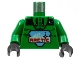 Part No: 973p7bc01  Name: Torso Arctic Logo Large and 'A2' Pattern / Green Arms / Black Hands