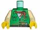 Part No: 973pb0281c01  Name: Torso Adventurers Desert Safari Shirt, White Neck, Red Bandana, Gun Pattern / Tan Arms / Yellow Hands
