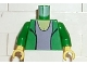 Part No: 973pb0285c01  Name: Torso Spider-Man Blazer over Light Violet Top Pattern (Mary Jane 2) / Green Arms / Yellow Hands