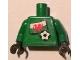Part No: 973pb0826c01  Name: Torso Soccer Welsh Goalie, Welsh Flag Sticker Front, White Number Sticker Back (specify number in listing) / Green Arms / Black Hands