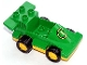 Part No: duploracer01  Name: Duplo Car Formula One with Yellow Wheels and Yellow Number 1 Pattern