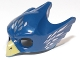 Part No: 12549pb05  Name: Minifigure, Headgear Mask Bird (Eagle) with Yellow Beak and Silver Feathers Pattern