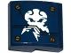 Part No: 15068pb032  Name: Slope, Curved 2 x 2 No Studs with Screws and Ninjago Lightning Power Emblem Pattern (Sticker) - Set 70754