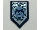 Part No: 22385pb169  Name: Tile, Modified 2 x 3 Pentagonal with Dark Blue Cat and White Background Pattern