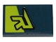Part No: 26603pb036  Name: Tile 2 x 3 with Lime 'R' and Stripe Pattern (Sticker) - Set 70835