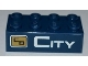 Part No: 3001pb088L  Name: Brick 2 x 4 with City Bank Logo and 'CITY' Pattern (Sticker) - Set 3661