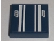 Part No: 3068bpb0298  Name: Tile 2 x 2 with White Stripes and '555' Pattern (Sticker) - Set 8194