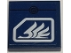 Part No: 3068bpb0376  Name: Tile 2 x 2 with White Quad Wing on Dark Blue Background Pattern (Sticker) - Set 8103