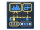Part No: 3068bpb1062  Name: Tile 2 x 2 with Digital Display with Level Gauge and Round and Square Buttons / Lights Pattern