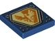 Part No: 3068bpb1077  Name: Tile 2 x 2 with Bright Light Yellow and Orange Falcon on Hexagonal Shield with Silver Border Pattern