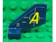 Part No: 44661pb015  Name: Tail Shuttle, Small with Yellow 'A' and Silver Lines Pattern on Both Sides (Stickers) - Set 8635