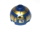Part No: 553pb009  Name: Brick, Round 2 x 2 Dome Top with Metallic Gold Pattern (R8-B7)