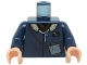 Part No: 973pb0305c02  Name: Torso SW Jacket with Collar and Monocular Pattern (Han Solo) / Dark Blue Arms / Light Flesh Hands