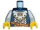 Part No: 973pb0437c01  Name: Torso Castle Fantasy Era Scale Mail, Crown on Collar Pattern / Light Bluish Gray Arms / Yellow Hands