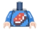 Part No: 973pb2460c01  Name: Torso Shirt with Pixelated Porkchop Icon on Blue Background Pattern / Blue Arms / Light Flesh Hands