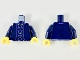 Part No: 973pb3458c01  Name: Torso Tang Jacket with Dark Azure Trim and Gold Ties Pattern / Dark Blue Arms / Yellow Hands