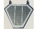 Part No: x1435pb001  Name: Flag 5 x 6 Hexagonal with SW Black Grille Pattern (Sticker)