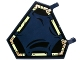 Part No: x1435pb016  Name: Flag 5 x 6 Hexagonal with Dark Blue Cloth Hung on Yellowish Green Frame Pattern (Sticker) - Set 70732