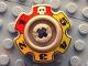 Part No: 57520pb01  Name: Technic Tread Sprocket Wheel Small with Glatorian Game Pattern