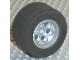 Part No: 22253c01  Name: Wheel 49.6 x 28 VR with X Axle Hole, with Black Tire 49.6 x 28 VR (22253 / 6594)
