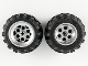 Part No: 22253c02  Name: Wheel 49.6 x 28 VR with X Axle Hole, with Black Tire 56 x 30 R Balloon (22253 / 32180)