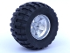 Part No: 22969c01  Name: Wheel 62mm D. x 46mm Technic Racing Large, with Black Tire Technic Power Puller (22969 / 32298)