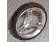 Part No: 32057c01  Name: Wheel 70 x 14 mm Futuristic with Black Tire 70 x 14 mm Futuristic (32057 / 32076)