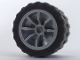 Part No: 51377c01  Name: Wheel 18mm D. x 14mm Spoked with Black Tire 24 x 14 Shallow Tread (51377 / 30648)