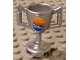Part No: 89801pb02  Name: Minifig, Utensil Trophy Cup with Ocean Waves and Seagulls Pattern (Sticker) - Set 8897