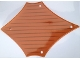 Part No: 14187  Name: Plastic Sail 24 x 17 with Brown Lines Pattern