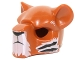 Part No: 15084pb06  Name: Minifigure, Headgear Mask Feline with Black Nose, Eyebrows and Tiger Stripes Pattern