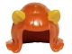 Part No: 20592pb01  Name: Minifigure, Hair Female Mid-Length Flipped Ends, Short Bangs, with Bright Light Orange Cat Ears Pattern